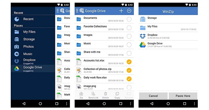 Top Features of WinZip for Android